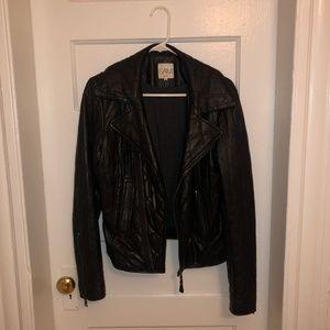 Vintage black leather jacket (lined)